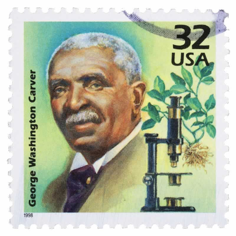 George Washington Carver on a Stamp