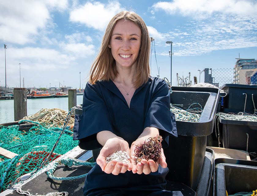International James Dyson Award: Lucy Hughes Harnesses Fish Waste to Create a Unique Alternative to Plastic