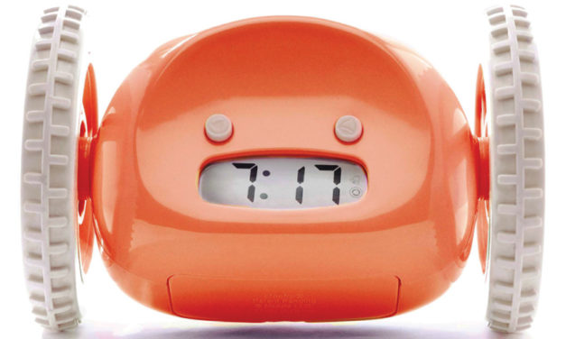 An Alarm Clock That Runs Away